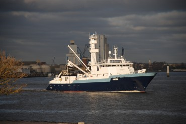 The Drennec ship is one of the most recent tuna seiner that was built in Concarneau, France © CMB