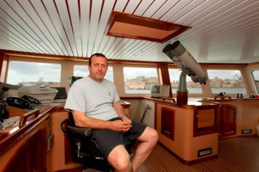 Généreux Avallone est le dernier d'une longue famille de pêcheurs sétois, grand spécialistes de la chasse au thon en Méditerranée © Philippe Henry / OCEAN71 Magazine