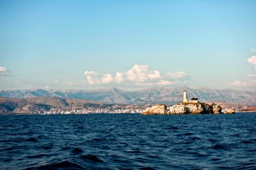 The two naighbourint countries are so close that from Corfu it is possible to see clearly the first Albanian city, Saranda © Philippe Henry / OCEAN71 Magazine