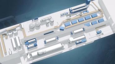 A l'intérieur des navires de pêche de krill se trouve d'importantes machines qui traitent, sèchent, congèlent et pressent le krill ©Aker BioMarine