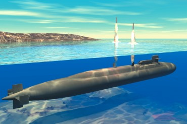 3d visualisation of a class Ohio submarine © Wikipedia