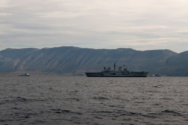 3 english warships at the anchor in Albanian Waters, near Orikum © Philippe Henry / OCEAN71 Magazine