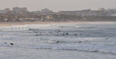This coast, with Peniche in the background, is a very popular surf destination © Andy Guinand / OCEAN71 Magazine