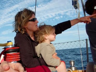 Chloé Lemaçon with her son, Colin © Chloé Lemaçon