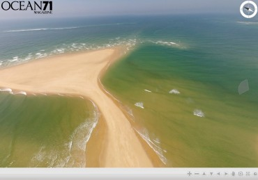 Caption of the panoramic view of the Arcachon Bay from above © Julien Pfyffer / OCEAN71 Magazine