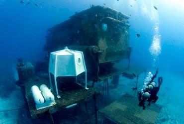 La base aquarius au large de la Floride