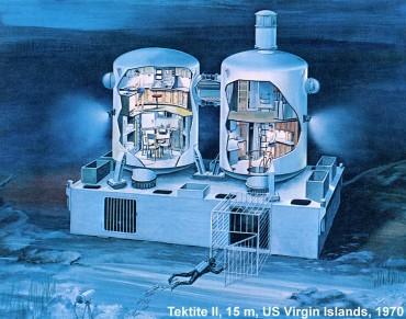L'habitat américain Tektite a été l'un des plus luxueux © DR