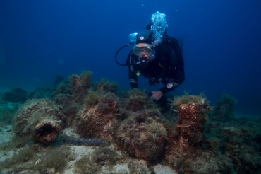 Les scientifiques étudient aussi les amphores comme des récifs artificiels © Francis Le Guen / OCEAN71 Magazine