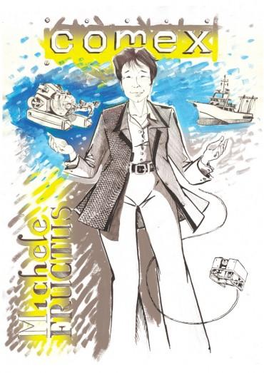 Illustration de Michèle Fructus, Pdg de la COMEX © Antoine Bugeon / OCEAN71 Magazine