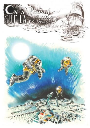 Illustration des plongées d'exploration sur l'épave du la Lune © Antoine Bugeon / OCEAN71 Magazine