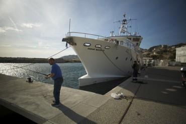 Le bateau flambant neuf du DRASSM, l'André Malraux ©Francis Le Guen / OCEAN71 Magazine