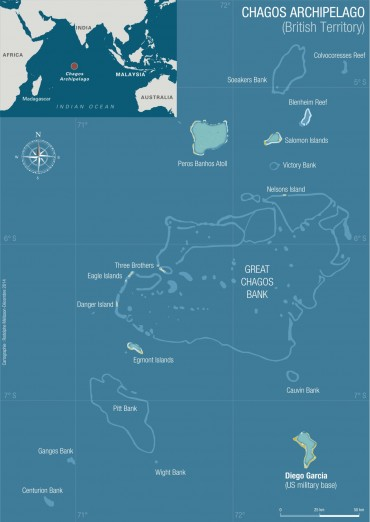 Map of the Chagos Archipelago © Rodolphe Melisson / OCEAN71 Magazine