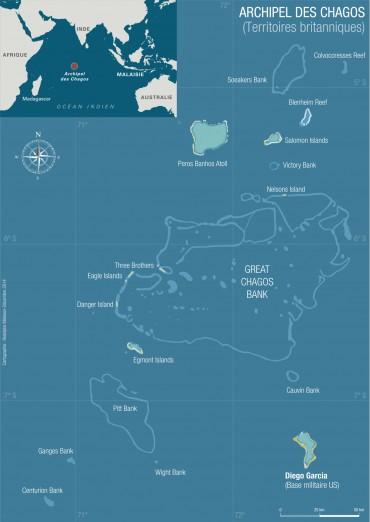 Carte de l'archipel des Chagos © Rodolphe Melisson / OCEAN71 Magazine