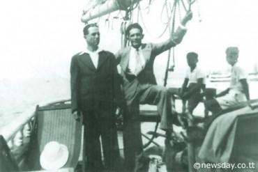Chicra Salhab, propriétaire de l'Island Queen, à bord du navire avec son cousin avant sa disparition © Trinidad et Tobago Newsday