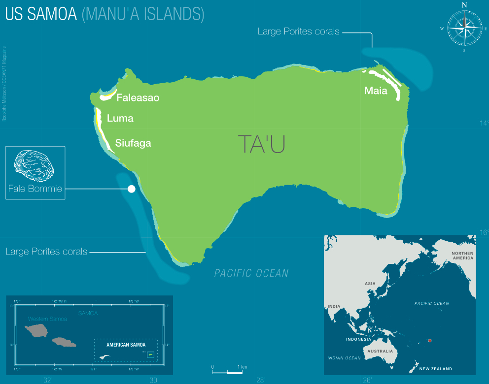 The valley of giants the american samoa enigma ecology map of tau rodolphe mlisson ocean71 magazine gumiabroncs Image collections