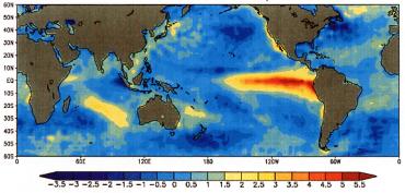 Le courant marin chaud El Nino en 1998 © Wikipedia