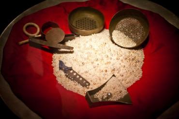 Des milliers de perles sont toujours déposées à la National Bank of Dubaï / © Francis Le Guen / OCEAN71 Magazine
