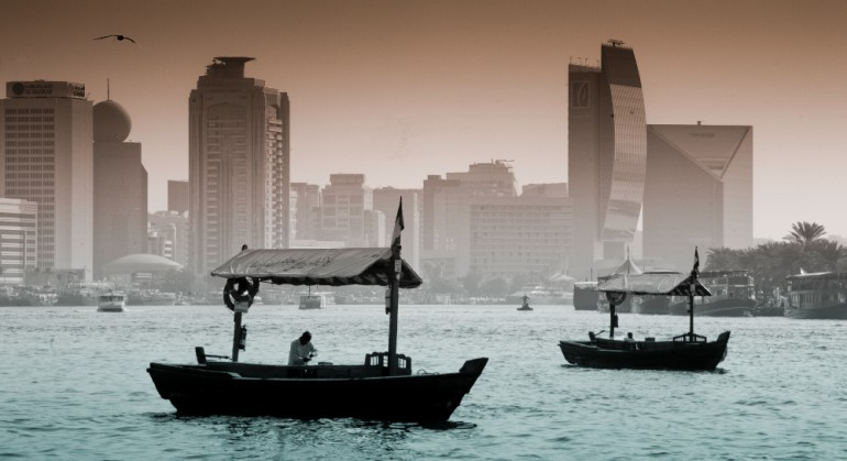 Dubai view from the sea © Francis Le Guen / OCEAN71 Magazine