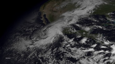 Hurricane Patricia, making landfall in Mexico on 23rd of October 2015 © NOAA
