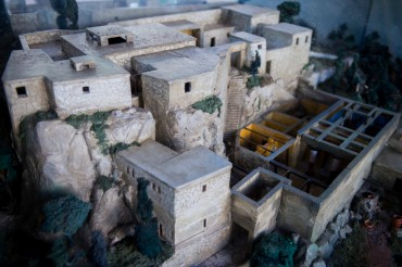 Artistic reconstruction of Odysseus palace. This model has been designed and made by Italien architect Bruno Mancini. It is situated in the centre of Stavros village on Ithaca © Philippe Henry / OCEAN71 Magazine