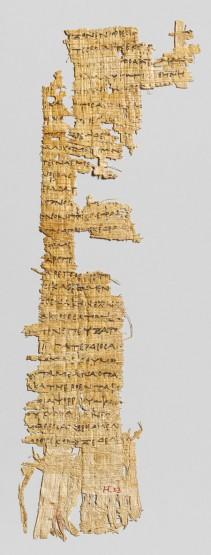 Ce fragment de papyrus comportant quelques vers d'Homère est la trace la plus ancienne du texte de l'Odyssée. Il est daté du IIIe siècle avant J.-C. Les premiers textes de l'Iliade et de l'Odyssée ont certainement été rédigé sur ce même genre de support qui ne résiste pas très bien aux affres du temps © Metropolitan Muséum, New-York
