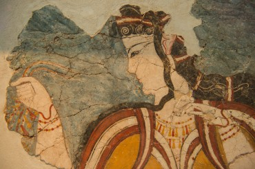 Un fragment de fresque considéré comme la première représentation naturaliste en Occident (XIIIe siècle av. J.-C.) © Philippe Henry / OCEAN71 Magazine