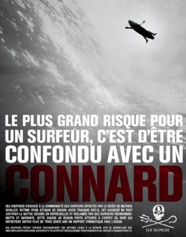 One of the posters that were used in the campaign © Sea Shepherd Conservation Society